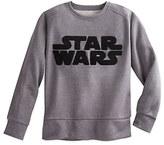 Disney Star Wars Logo Long Sleeve Pullover Top for Juniors