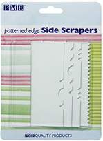 P.M.E. Patterned Side Plastic Scrapers, Set of 4