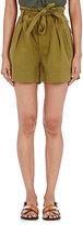 Etoile Isabel Marant Women's Oscar Cotton Twill Belted Shorts-BEIGE