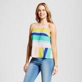 Merona Women's Multi Stripe Flounce Top