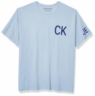 Calvin Klein Men's Tall Brand Traveling Logo T-Shirt