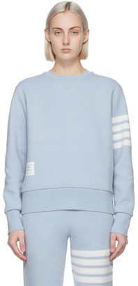 Thom Browne Blue Cashmere Relaxed Fit 4-Bar Sweater