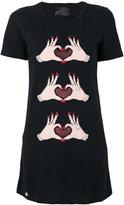 Philipp Plein appliqued T-shirt - women - Cotton/Polyamide/Brass - S