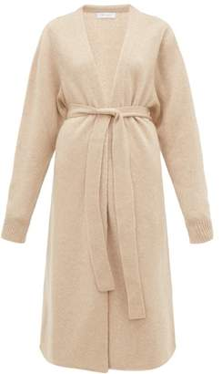 Roche Ryan Long-line Cashmere-blend Cardigan - Womens - Beige