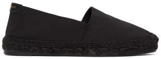 Saint Laurent Black Grosgrain Espadrilles