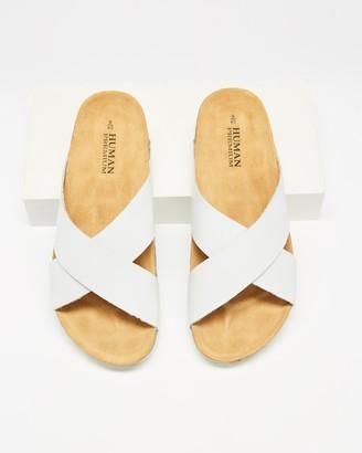 Human Premium - Women's White Flat Sandals - Pandora Sandals - Size 38 at The Iconic