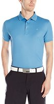 J. Lindeberg Men's Michael Scale Sli Fit Tx Jersey+ Golf Polo Shirt