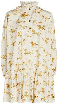 Ganni Horse Print Mini Dress
