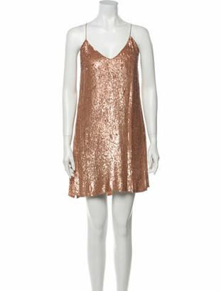 Caroline Constas V-Neck Mini Dress w/ Tags Brown