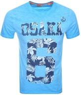 Superdry Osaka 6 Cold DyeT Shirt Blue