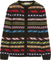 Mary Katrantzou Dax Jacquard-knit Cardigan - Black