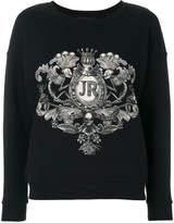 John Richmond logo patch sweatshirt