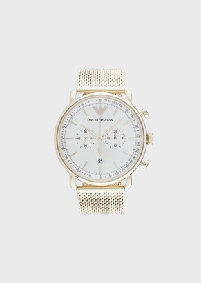 Emporio Armani Chronograph Gold-Tone Stainless Steel Watch