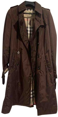 Burberry Burgundy Polyester Trench coats