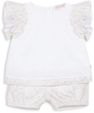 Lili Gaufrette Baby Girl's 2-Piece Lace Top & Bloomers Set