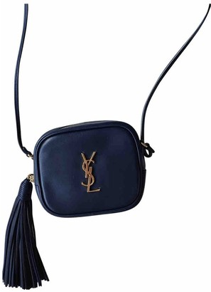 Saint Laurent Blogger Navy Leather Handbags