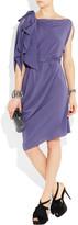 Lanvin Belted silk-crepe dress