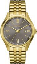 Caravelle New York Men's Goldtone Gray Sunray Dial Bracelet Watch