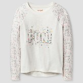 Girls' Long Sleeve Fun Confetti Graphic Tee Shirt Cat & Jack - Multi-Colored