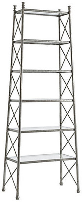 Theodore Alexander Upward Etagere - Silver frame, silver; glass, clear