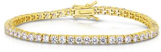 Sphera Milano 14K Over Silver Cz Tennis Bracelet