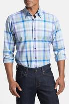 Robert Talbott Trim Fit Woven Linen Sport Shirt