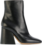 Maison Margiela Flared heel ankle boots - women - Leather - 36