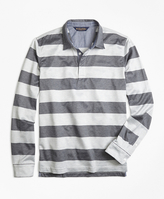 Brooks Brothers Slim Fit Rugby Stripe Long-Sleeve Polo Shirt