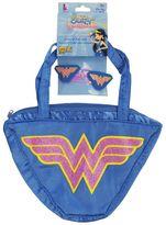 Kids Wonder Woman Costume Purse & Hair Clips Set
