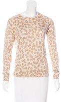 A.P.C. Silk & Cashmere-Blend Printed Sweater