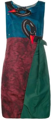 Prada Pre-Owned Swan Panelled Short Dress