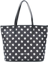 Armani Jeans perforated circle print tote