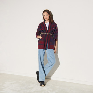 Sandro Checked cardigan with sequins