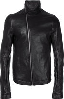 Rick Owens Mollino biker jacket - men - Cotton/Cupro/Ram Leather - 48