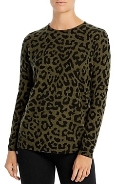 C by Bloomingdale's Leopard Print Cashmere Sweater - 100% Exclusive