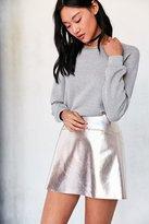 Silence & Noise Silence + Noise Rose Gold Vegan Leather Mini Skirt