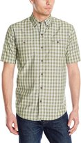 G.H. Bass Men's Short Sleeve Fancy Explorer Small Plaid Shirt