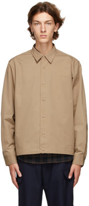 Officine Generale Taupe Stan Overshirt Jacket