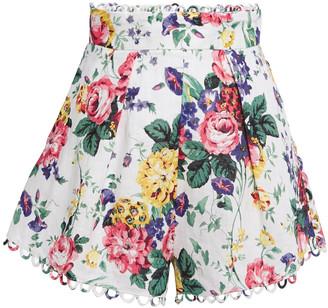 Zimmermann Pleated Linen Shorts