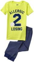 Crazy 8 Allergic 2 Losing 2-Piece Pajama Set