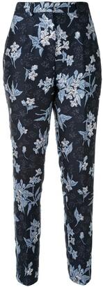 DELPOZO Jacquard Print Trousers