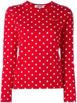 Comme des Garcons polka dot longsleeved T-shirt - women - Cotton - S