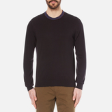 Paul Smith Men's Crew Neck Knitted Jumper Black