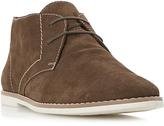 Bertie Chives Desert Boots, Dark Brown