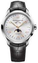 Baume & Mercier Clifton 10055 Moonphase Stainless Steel & Alligator Strap Watch