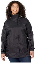 Marmot Plus Size PreCip(r) Eco Jacket (Black) Women's Coat