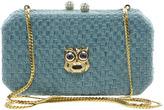 Love Moschino Woven Owl Clutch Bag