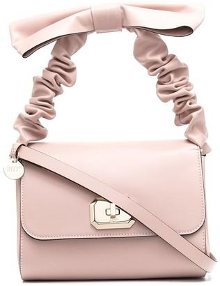 Red(V) BEL bow top-handle bag