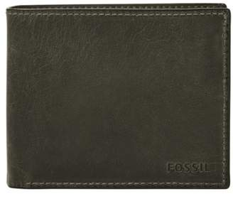 Fossil Derrick Rfid Large Coin Pocket Bifold Wallets Cement