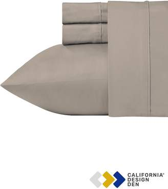 California Design Den King 700 Thread Count Cotton Rich 4-Piece Solid Sheet Set - Simply Taupe